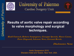 Results of aortic valve repair according to valve morphology