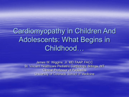Cardiomyopathy in Children And Adolescents