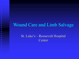 Wound Care and Limb Salvage - St. Luke`s Roosevelt Hospital