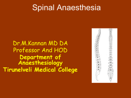 Spinal Anaesthesia