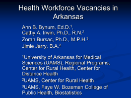 Health Workforce Vacancies in Arkansas