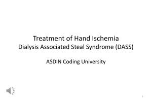 Treatment of Hand Ischemia