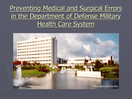 Preventing Medical and Surgical Errors in the Department