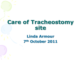 Care of Tracheostomy site