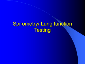 Spirometry/ Lung function Testing