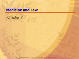 legal and ethical ppt - the Health Science Program