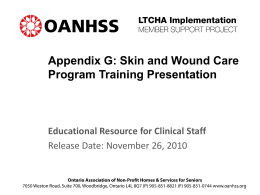 Appendix G -Skin and Wound Care Training Presentation