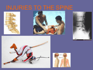 Injuries to the Spine - Lewiston School District