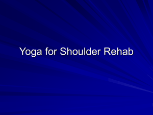 Yoga for Shoulder Rehab