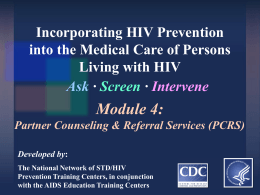 HIV Partner Counseling and Referral Services