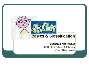 Squint: Basics and Classification