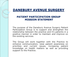 Mission Statement - Danebury Avenue Surgery