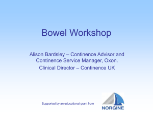 Bowel Workshop - Continence UK