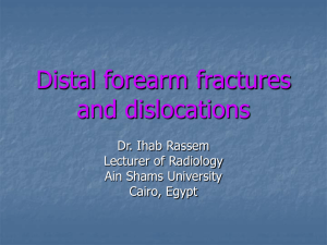 Distal forearm fractures and dislocations - cox