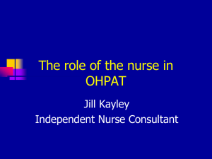 The role of the nurse in OPAT