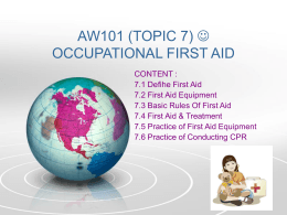 Occupational First-Aid