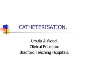 MALE CATHETERISATION.