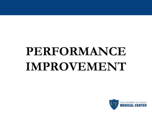PERFORMANCE IMPROVEMENT OCCURRENCE REPORTING