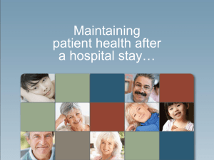 Maintaining Patient Health After A Hospital Stay.