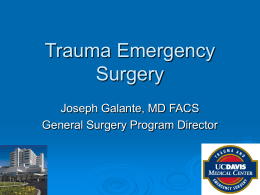 Trauma Emergency Surgery