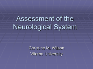 Assessment of the Neurological System