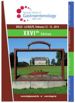 XXVIth - Belgian Week of Gastroenterology
