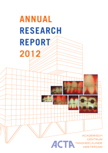 ANNUAL RESEARCH REPORT 2012