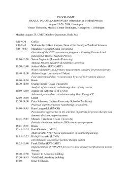 Programme of the symposium