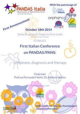 First Italian Conference on PANDAS/PANS: symptoms, diagnosis