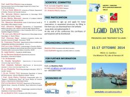 volantino LGMD DAYS - Centro di Coordinamento Malattie Rare FVG