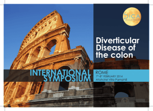 international symposium - Diverticular Disease of the colon