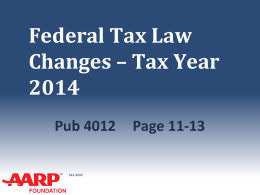 41_Tax_Law_Changes - Aarp-tax-aide