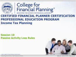 certified financial planner™ certification professional education