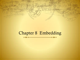 Chapter 8 Embedding