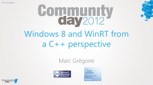 Windows 8 and WinRT from a C++ perspective