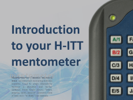 Introduction to your H-ITT mentometer system
