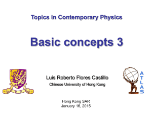 lecture 5 - Department of Physics, The Chinese University of Hong