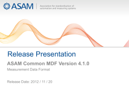 ASAM Common MDF Version 4.1.0