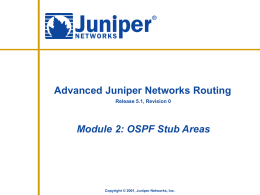 OSPF Stub Areas - J-Net Community