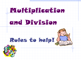 Multiplication & Division Rules PowerPoint