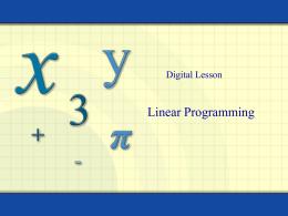 4.2: Linear Programming