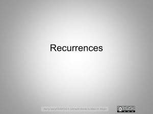 Recurrencesx