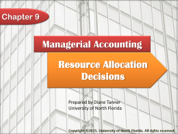 Managerial Accounting Chapter 9