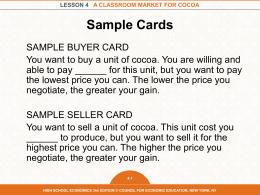 Lesson 4 - High School Economics