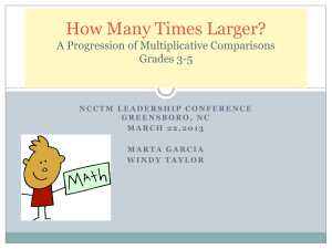 How Many Times Larger? A Progression of Multiplicative Comparisons