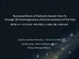 Galactic Evolution Workshop*2014.6.4