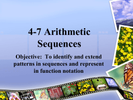 4-7 Arithmetic Sequencesx