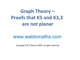 Graph Theory – Proofs that K5 and K3,3 are not planar