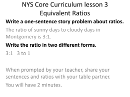 NYS Core Curriculum lesson 3 Equivalent Ratios