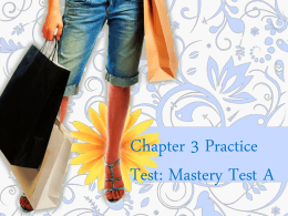 Chapter 3 Practice Test - Consumer Mathx